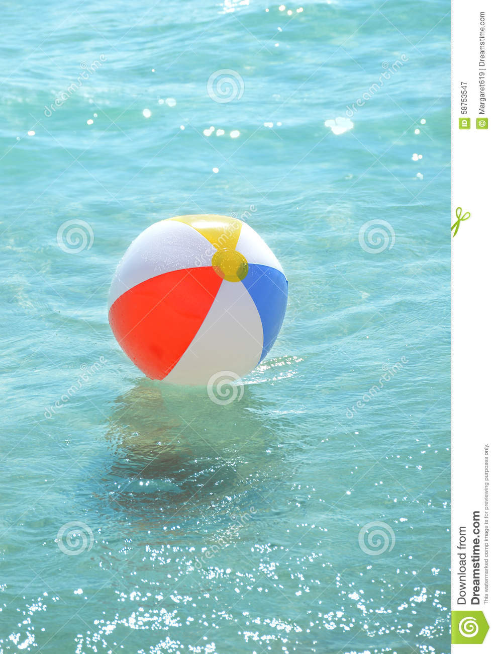 beach ball in ocean