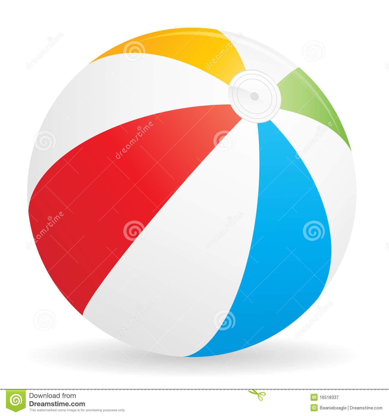 colorful illustration of a beachball.