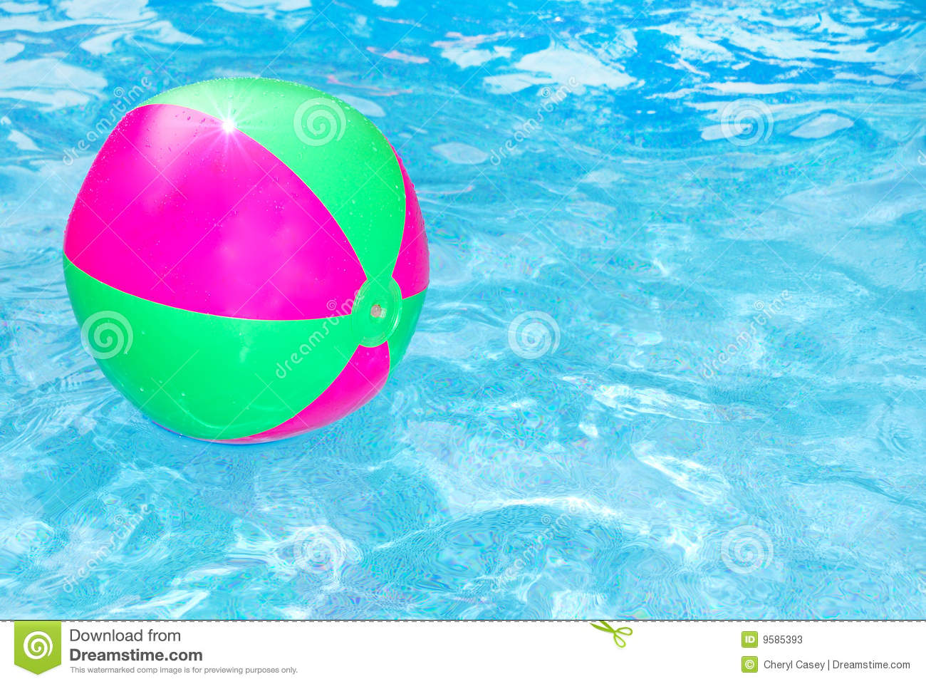 Beach ball in pool stock image image of weekend beach for Pool time pools