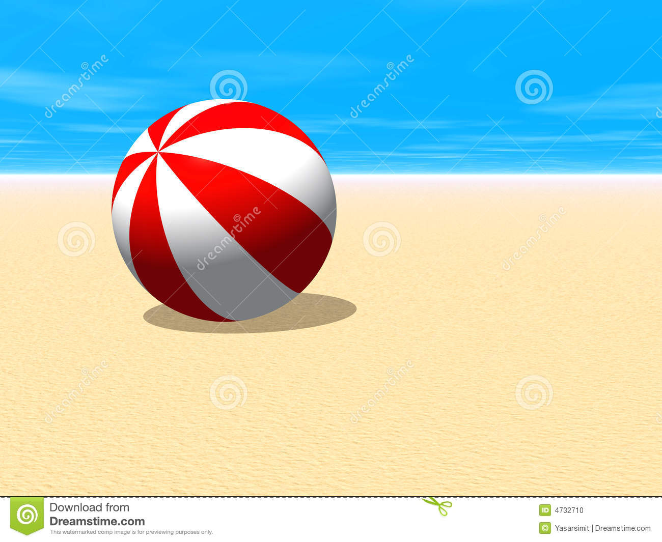 Beach ball in sand Ocean Red And White Beach Ball Pinterest Red And White Beach Ball Stock Illustration Illustration Of