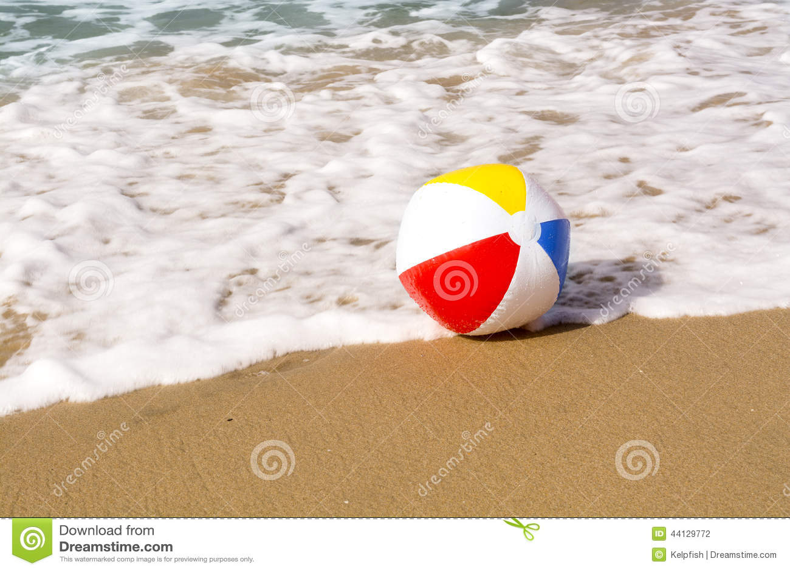 Beach ball in sand Clip Art Beach Ball On Sand Shutterstock Beach Ball On Sand Stock Photo Image Of Beach Surf 44129772