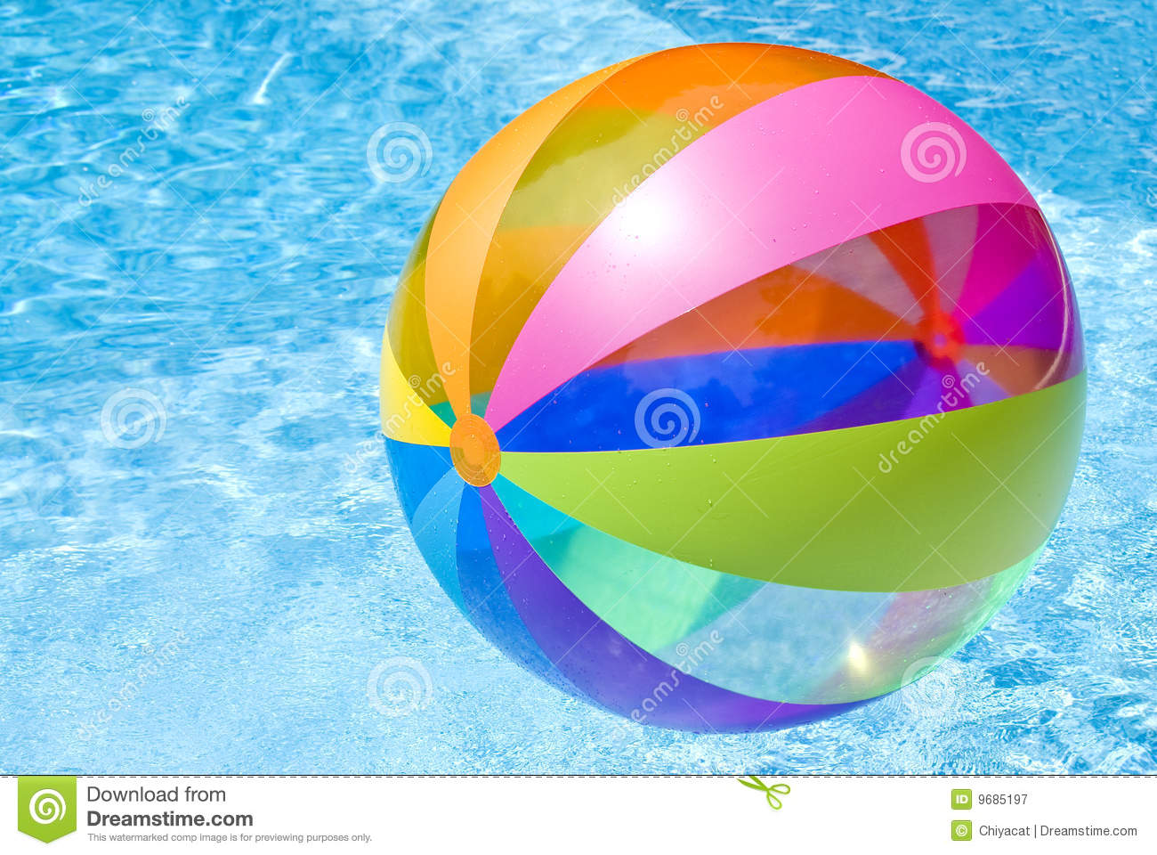 Beach ball in swimming pool royalty free stock photography - How to make swimming pool water blue ...