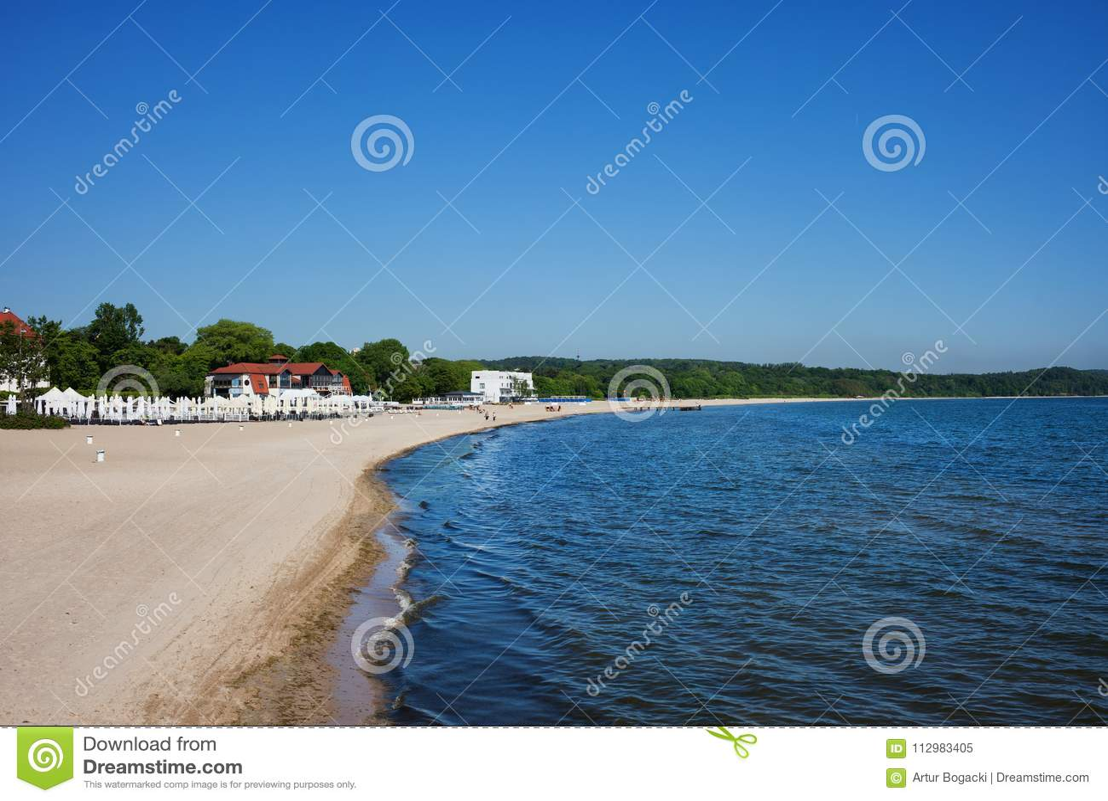 Beach at Baltic Sea in Sopot