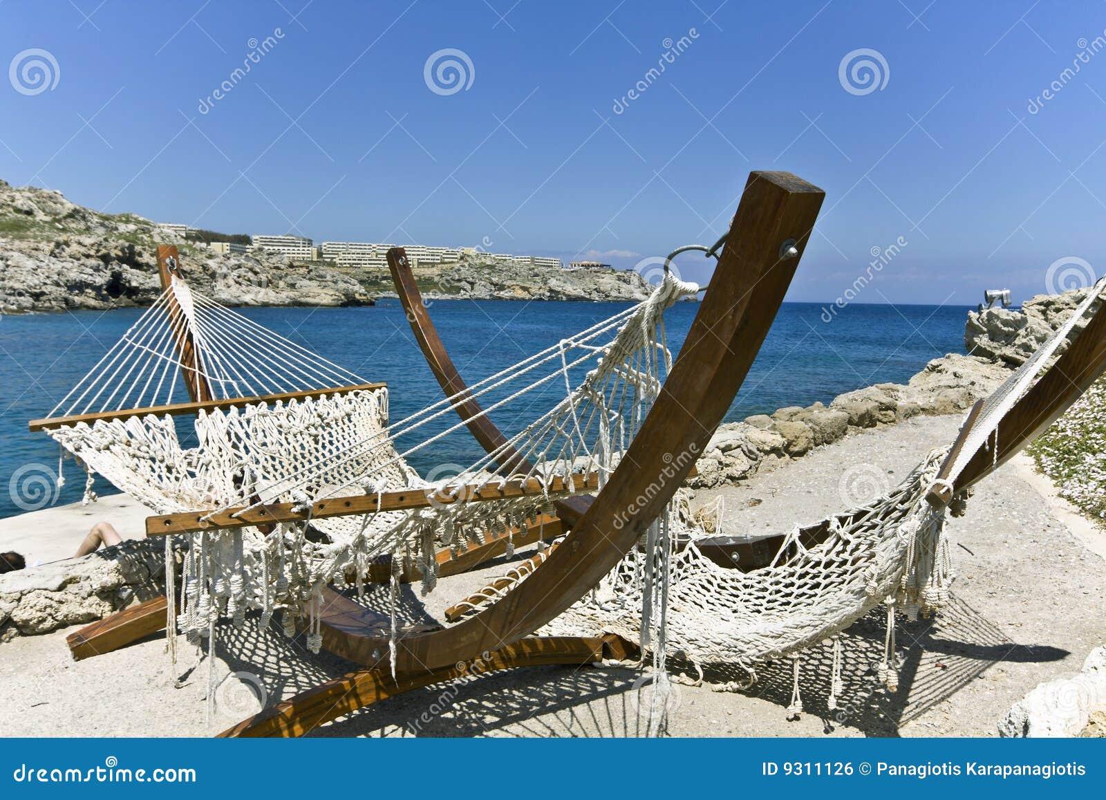 Beach bar at Rhodes island, Greece