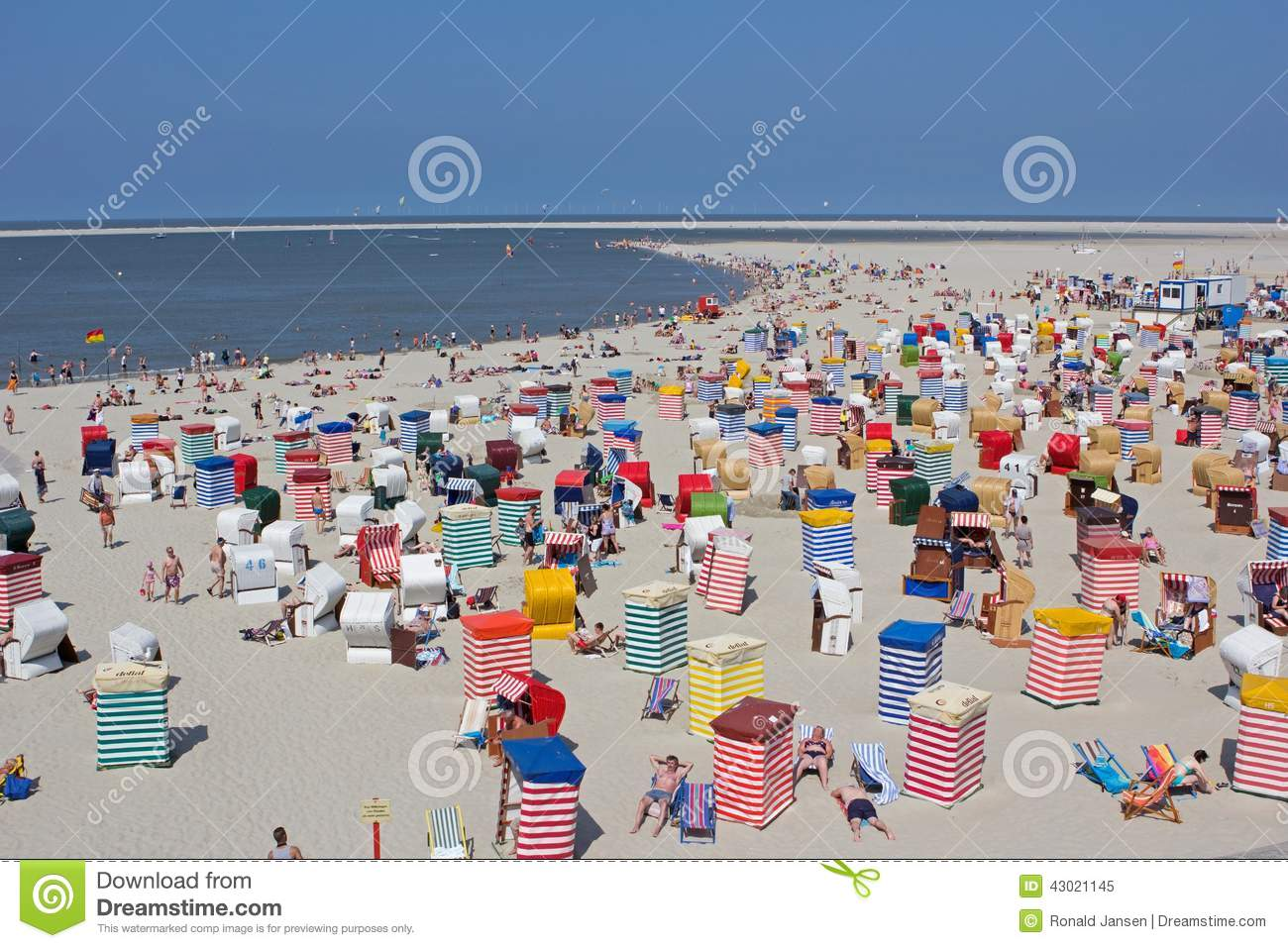Borkum Germany  city pictures gallery : Borkum, Germany: July 29, 2014 beach bars in Borkum, Germany.