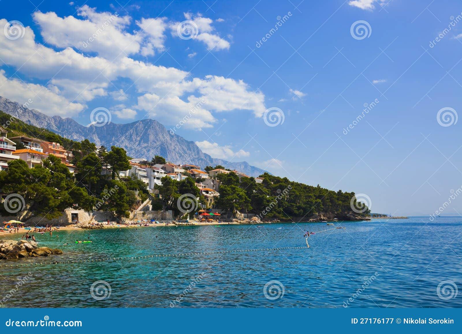 Baska Voda Croatia  city photo : Beach At Baska Voda, Croatia Royalty Free Stock Photography Image ...