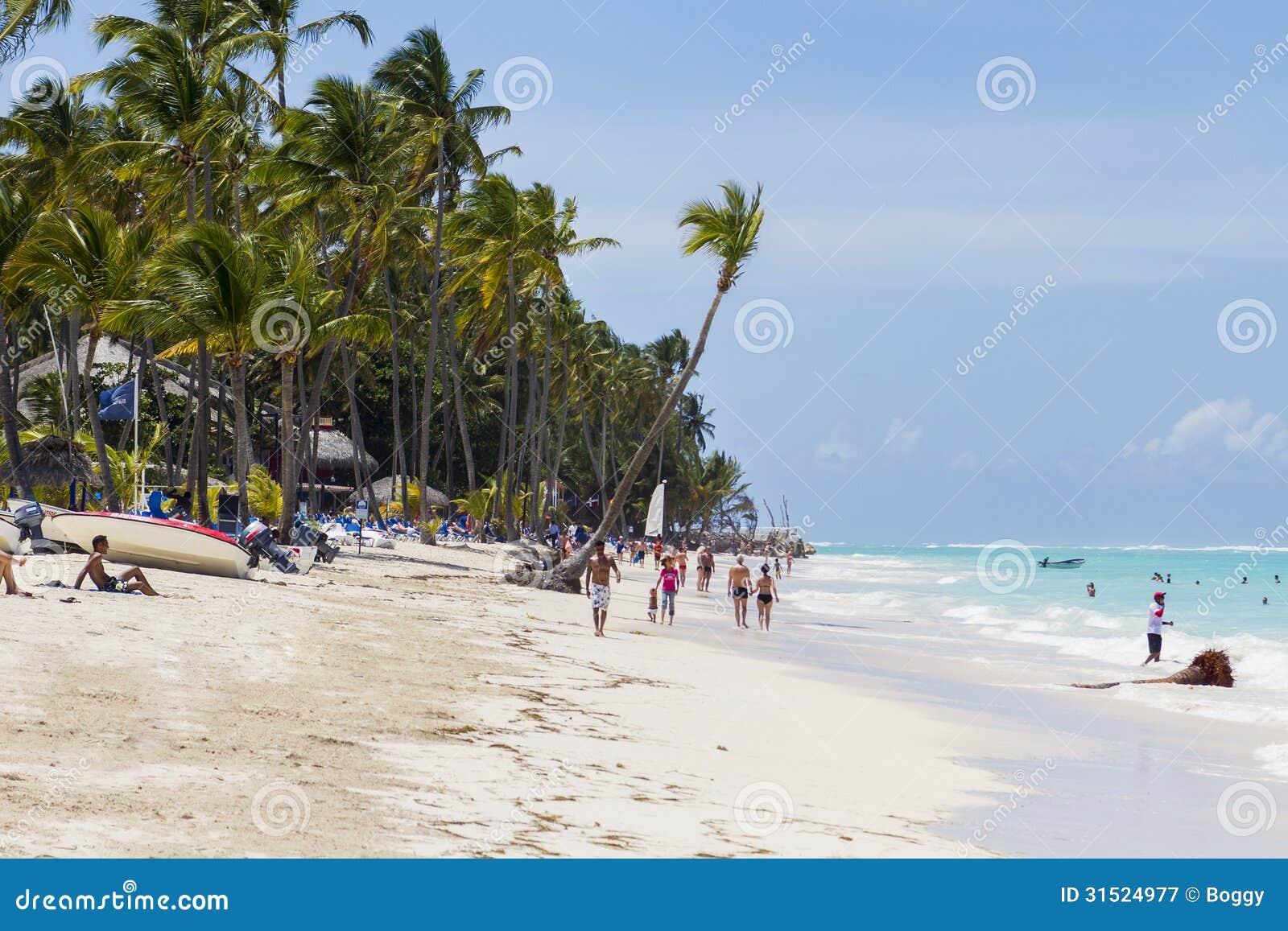 Download Beach In Bavaro Dominican Republic Editorial Photography