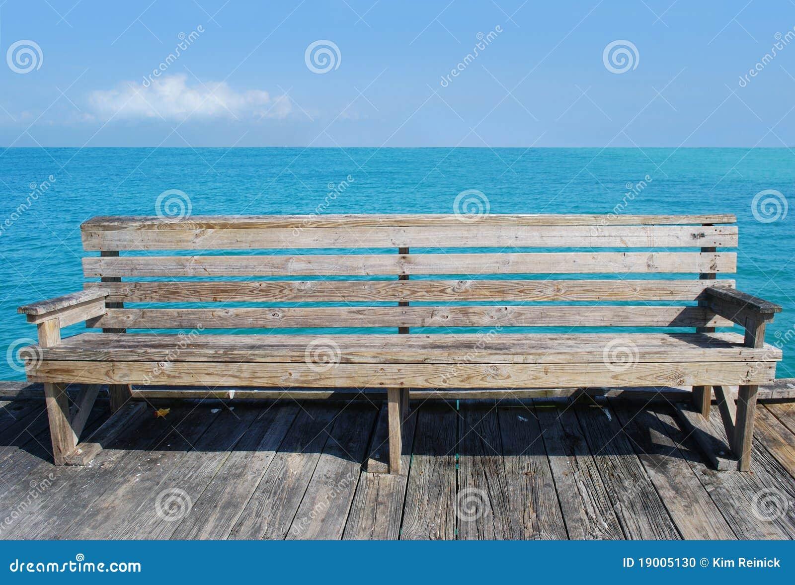 Beach Bench Stock Photo Image 19005130