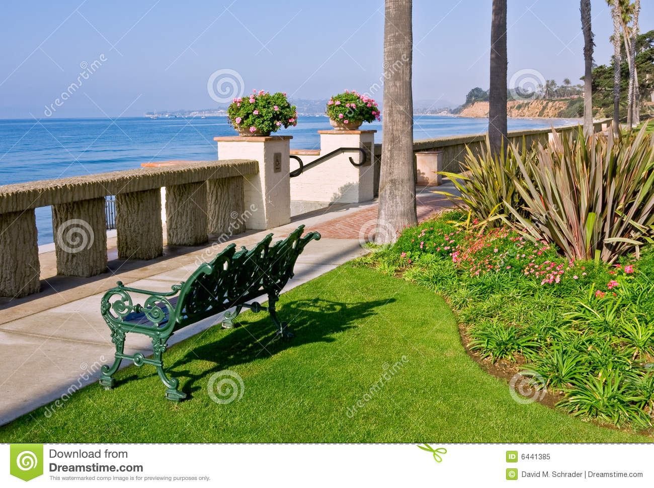 Beach Bench Royalty Free Stock Photo Image 6441385