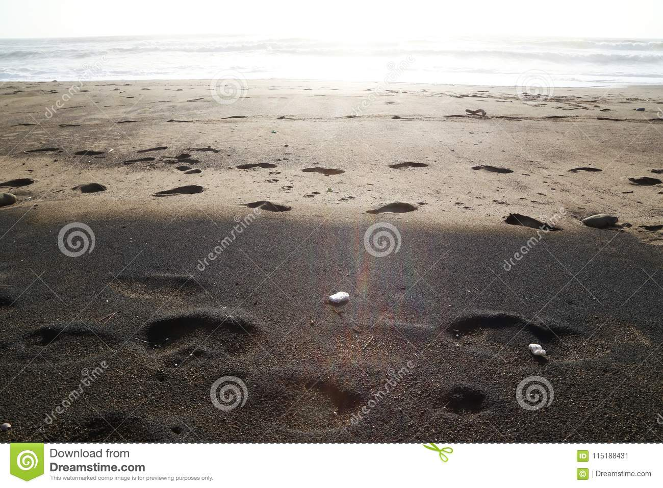 Beach Black And Brown Sand Stock Image Image Of Relaxing