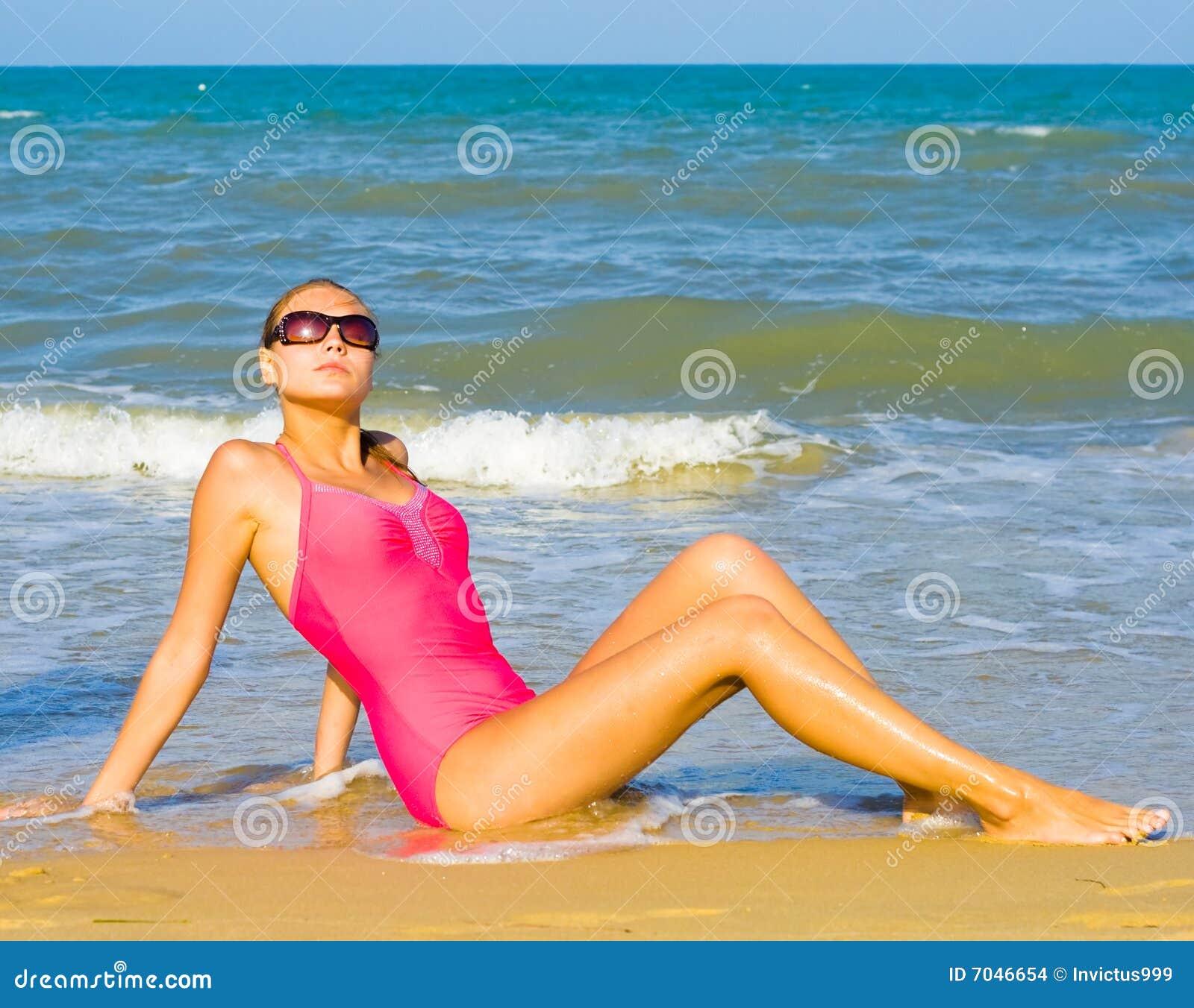 Beach bliss under hot summer sun