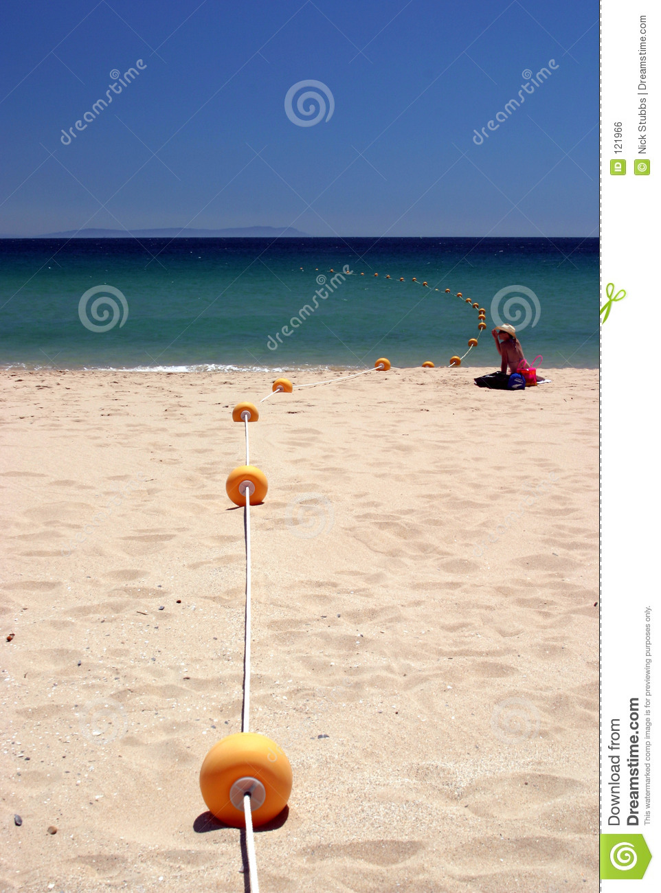 Beach blue calm deserted hot next sea sunny to white woman