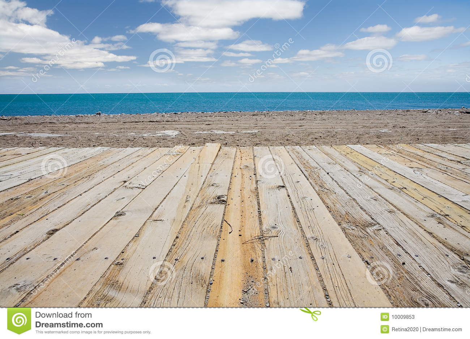 Beach Boardwalk Stock Photos - Image: 10009853