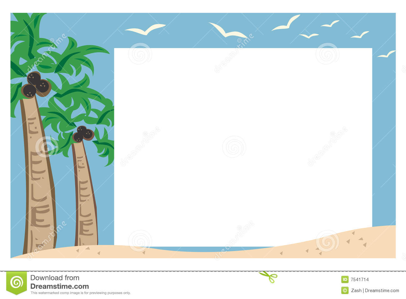 Beach Frame Clipart | www.imgkid.com - The Image Kid Has It!