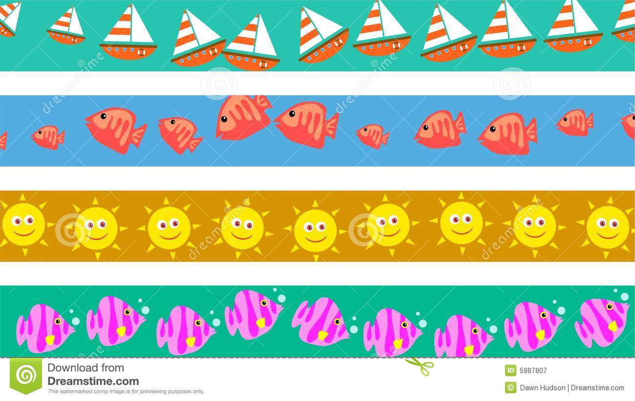 Beach Borders Royalty Free Stock Photography - Image: 5987807