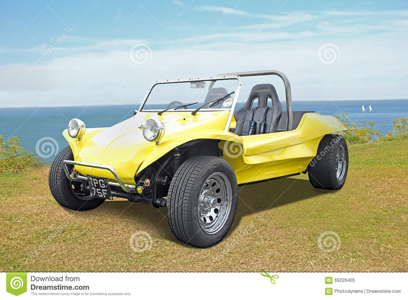 Beach buggy by coast editorial image  Image of ideal - 69226405