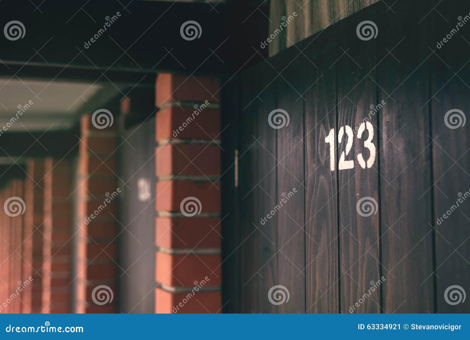Beach cabin door number 123 stock photo image 63334921 for 123 cabins