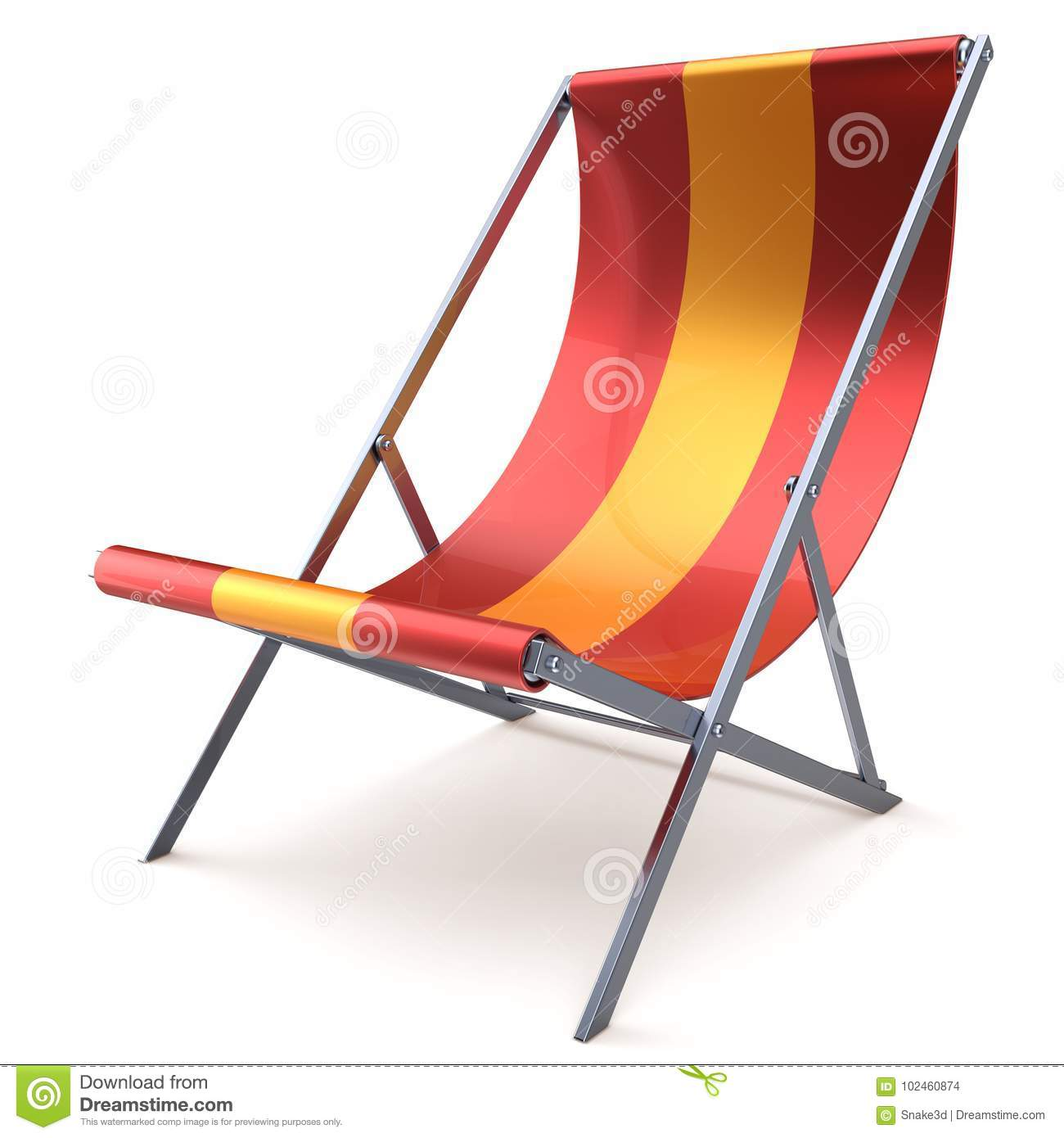 Delicieux Beach Chair Chaise Longue Red Yellow Nobody Relaxation Holidays Spa Resort  Summer Sun Tropical Sunbathing Travel Leisure Comfort Outdoor Concept.