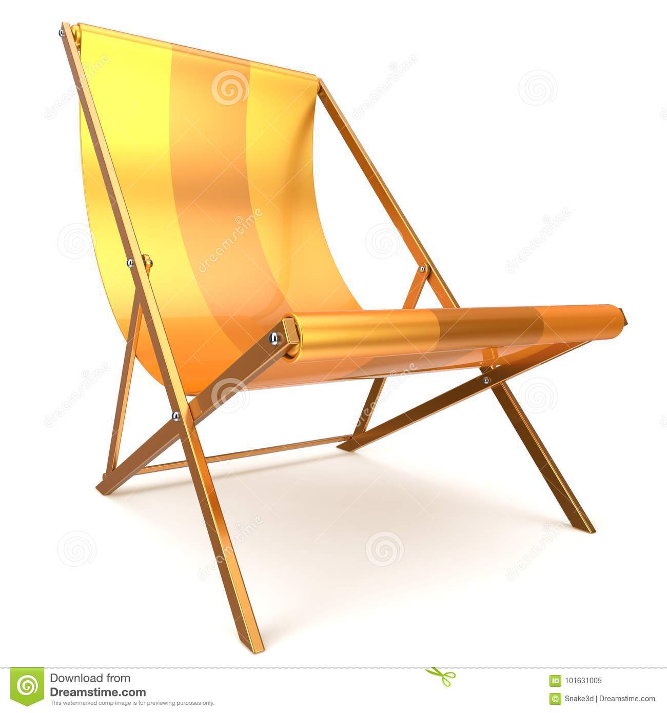 Download Beach Chair Chaise Longue Yellow Relaxation Tropical Sunbathing  Stock Illustration   Illustration Of Nobody,