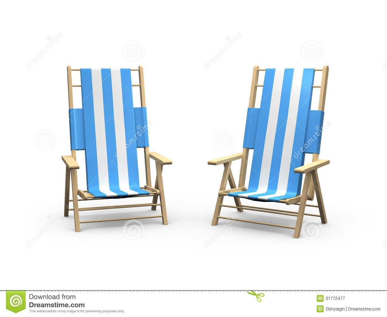 Beach Chair For Couples Royalty Free Stock graphy Image