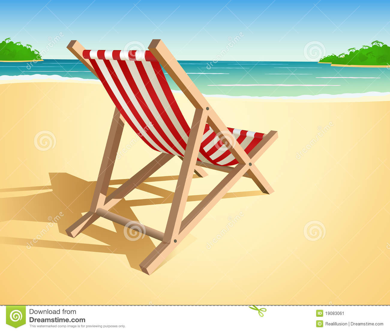 Beach Chair Illustration Stock Vector Illustration Of