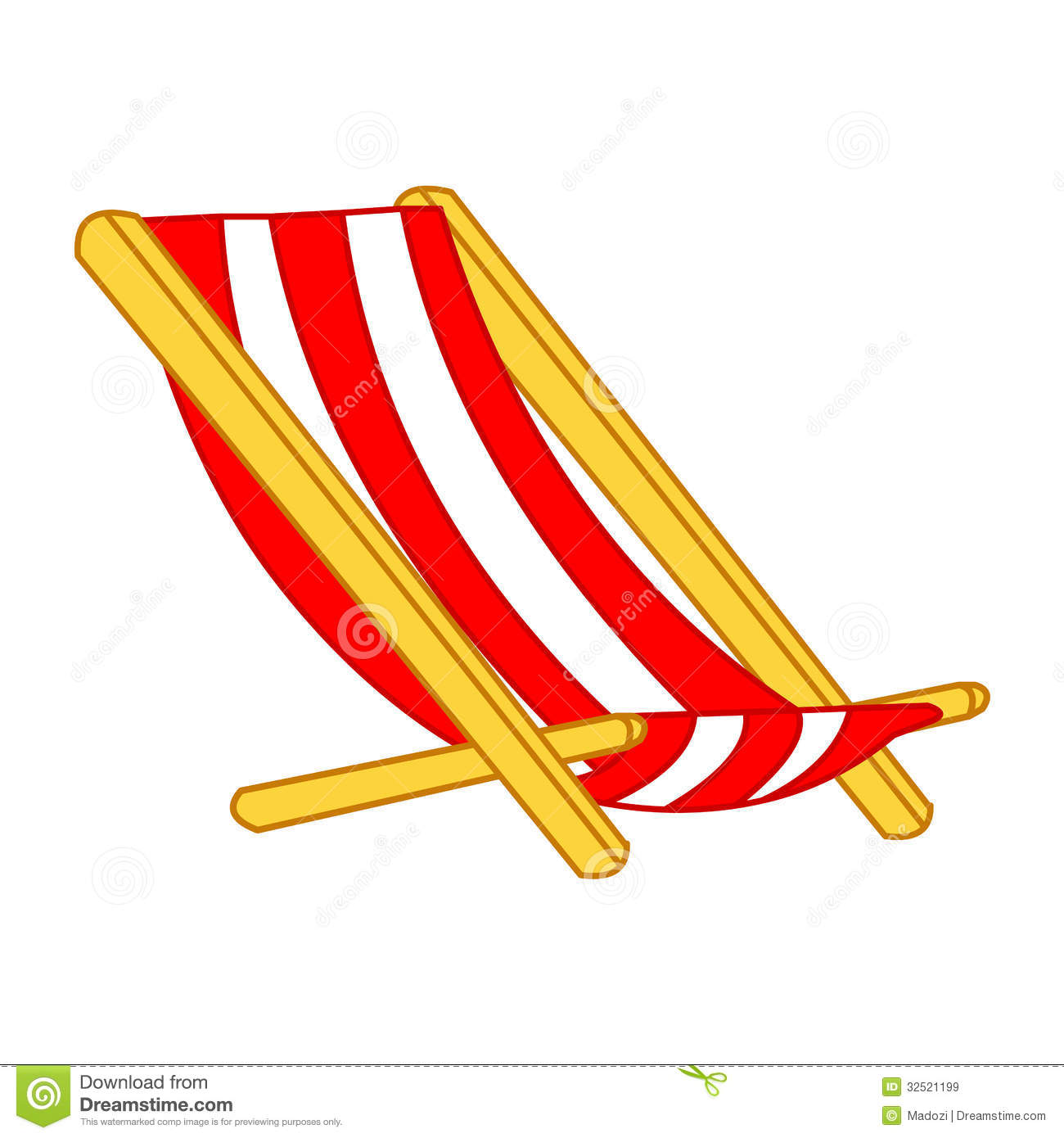 Beach Chair Isolated Illustration Royalty Free Stock Image