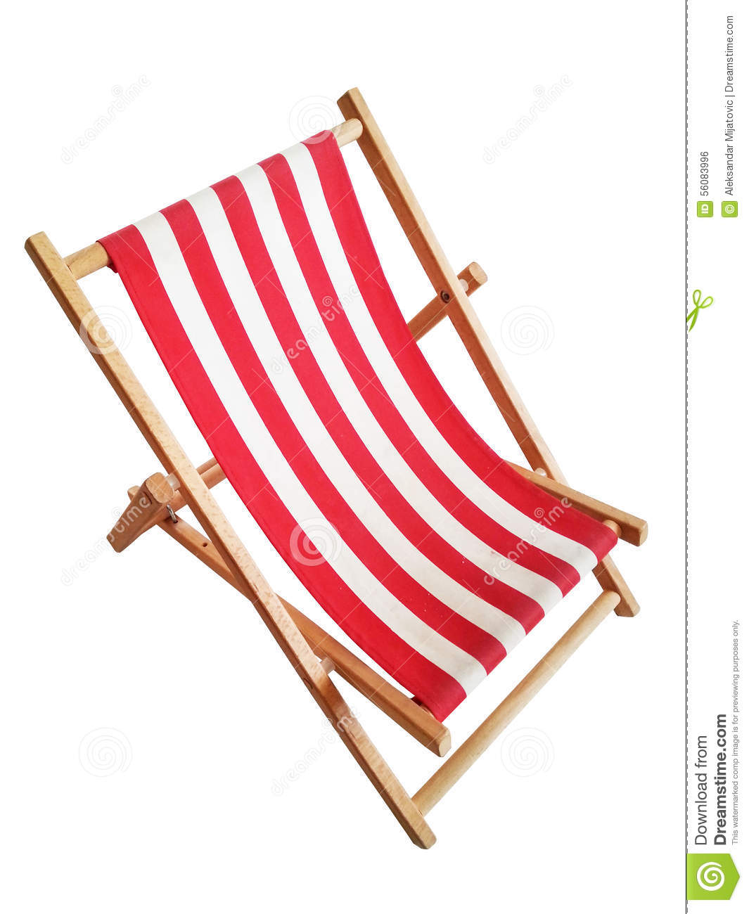 Beach Chair Isolated White Stock Illustration Image