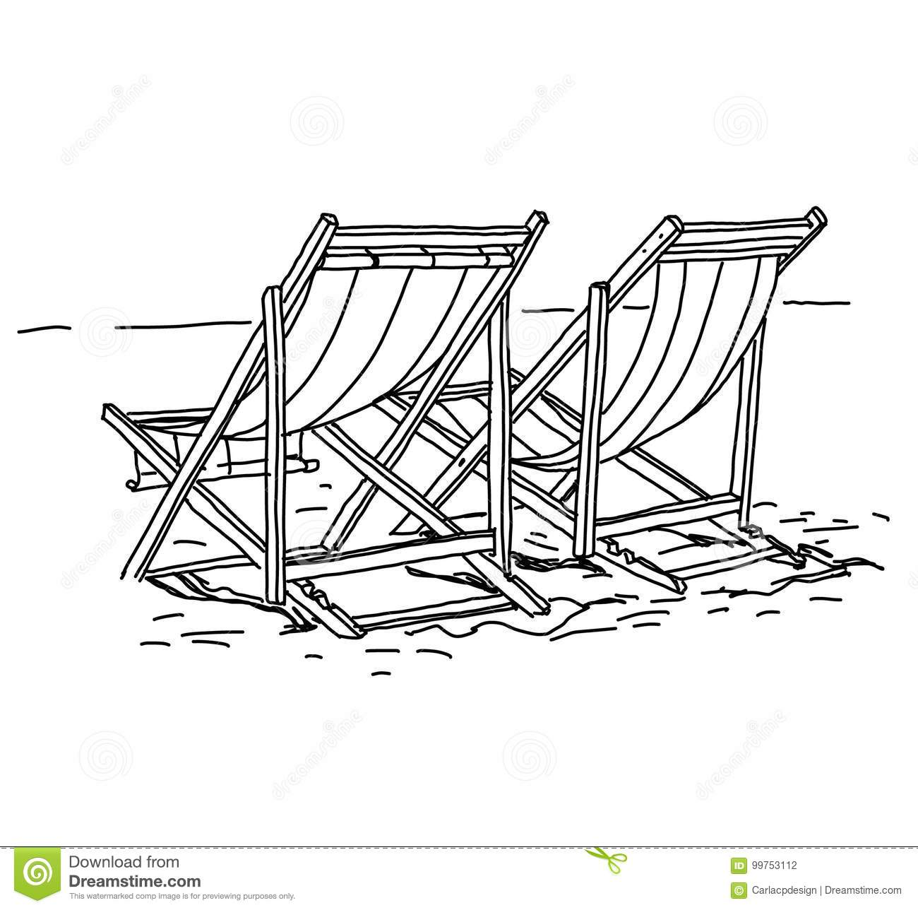 Beach Chair Summer Holiday Concept Stock Vector Illustration Of