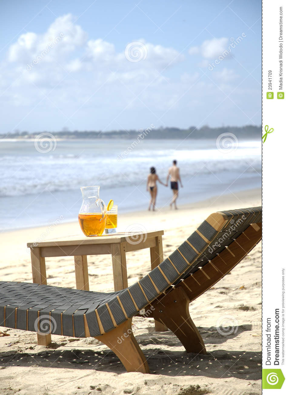 Beach Chair And Table Royalty Free Stock Images Image