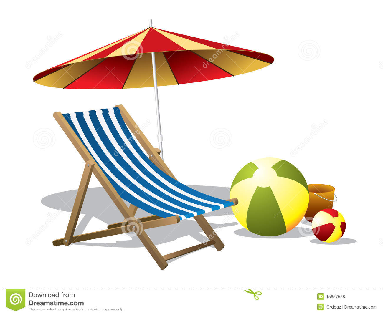 Beach Chair With Umbrella Royalty Free Stock Photos - Image: 15657528