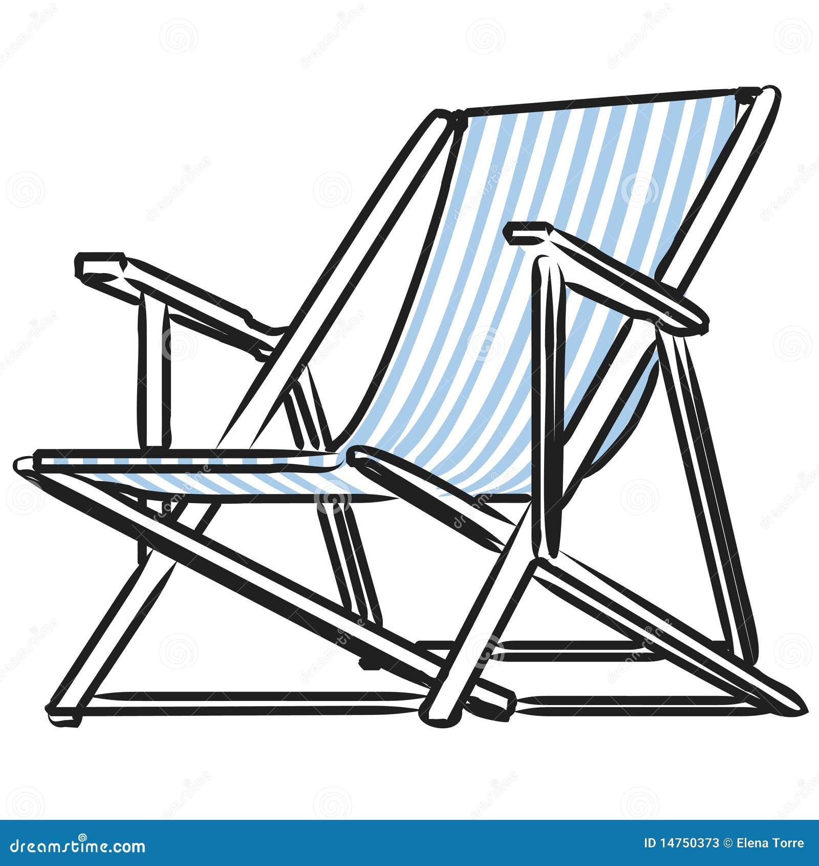 Beach Chair Vector Stock Photos - Image: 14750373
