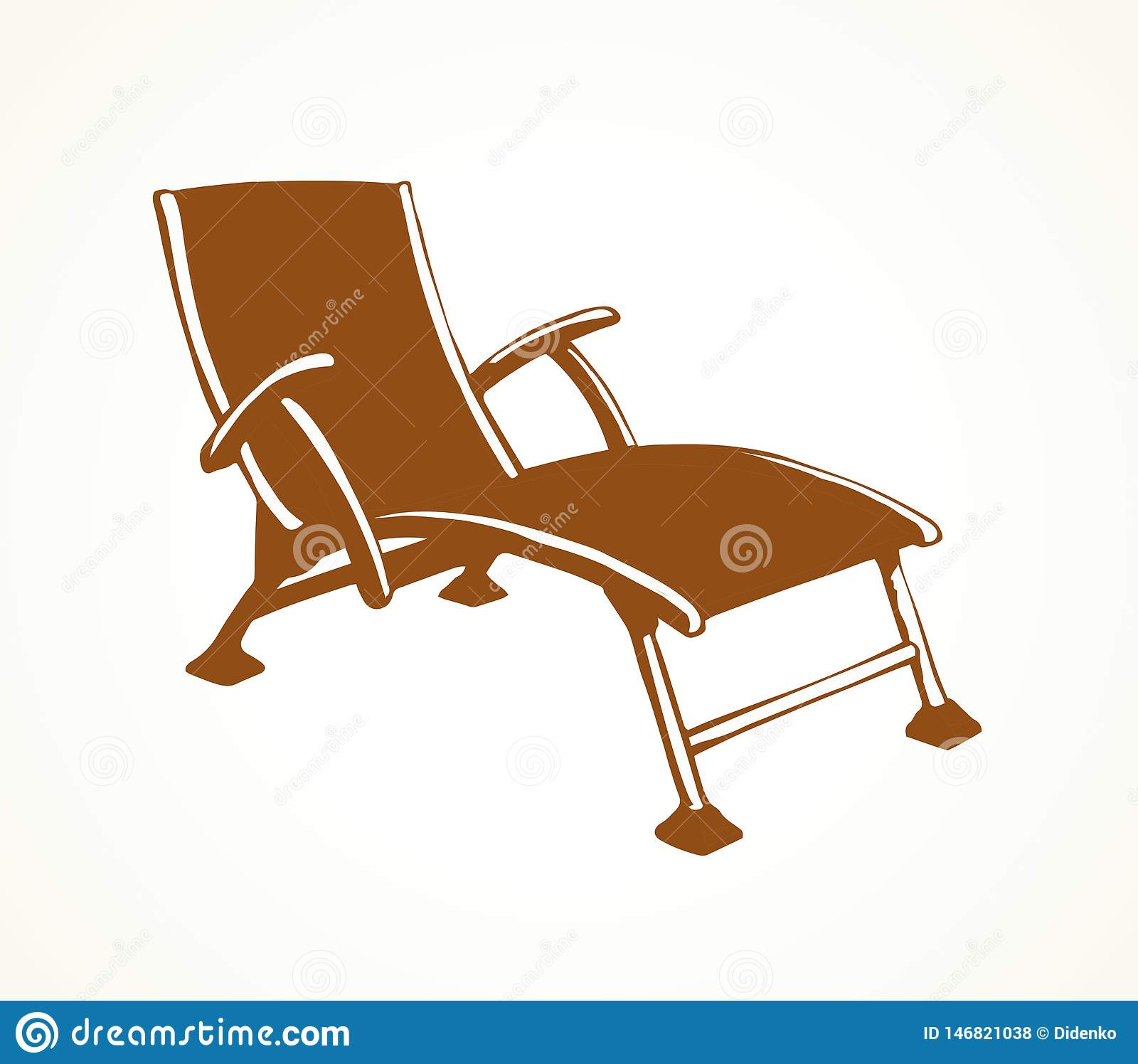 Sensational Beach Chair Vector Freehand Drawing Stock Vector Pdpeps Interior Chair Design Pdpepsorg