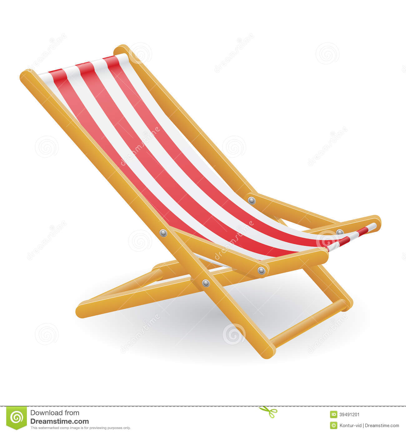 Beach chair vector illustration stock vector image 39491201 beach chair vector illustration voltagebd Gallery