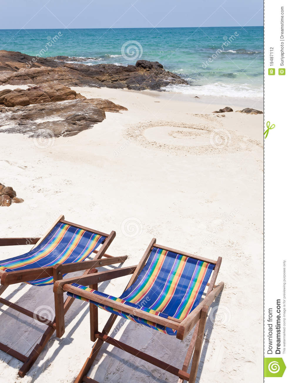 Beach Chair On White Sand Stock Photography Image 19487112