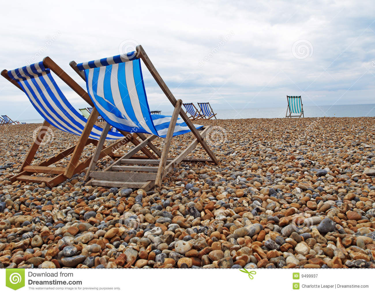 Beach Chairs on Brighton Beach