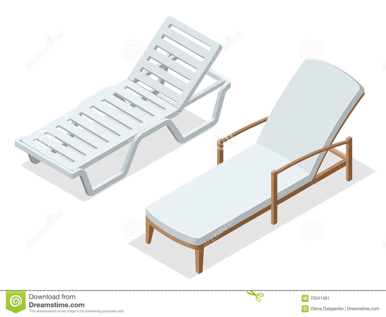 vector wooden chair isolated on white background cartoon vector 86011451. Black Bedroom Furniture Sets. Home Design Ideas
