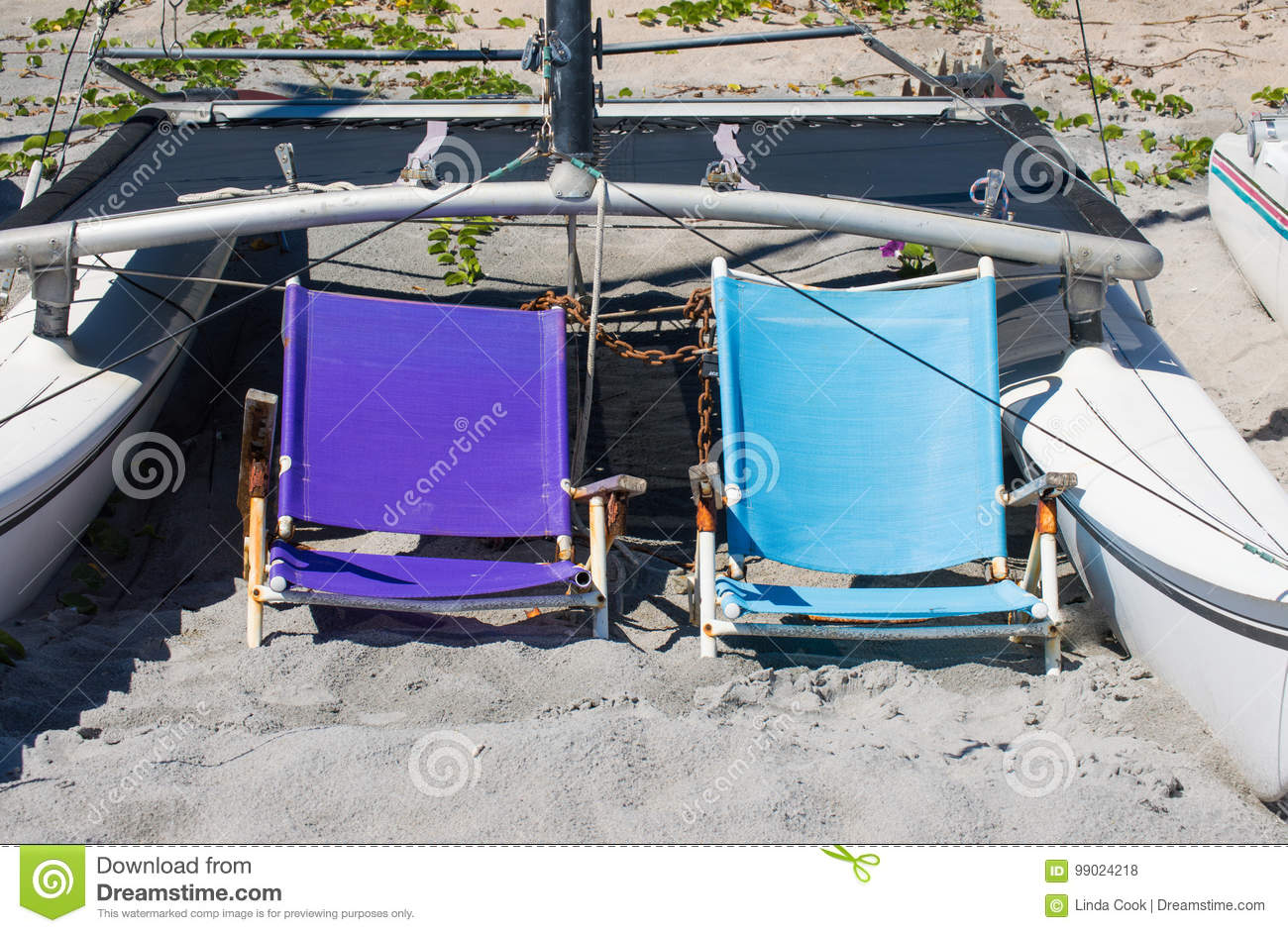 Superb 2 Weathered Lounge Chairs And A Boat In The Sand On A Creativecarmelina Interior Chair Design Creativecarmelinacom