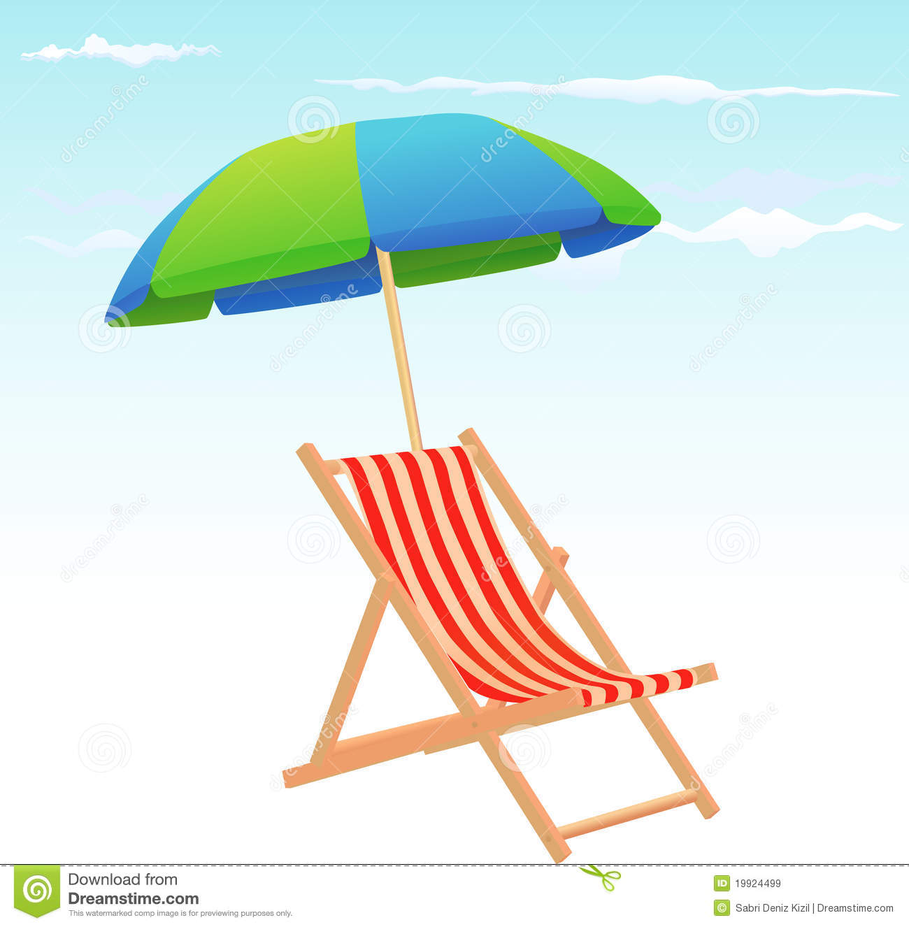 Beach chairs and umbrella royalty free stock images image 19924499
