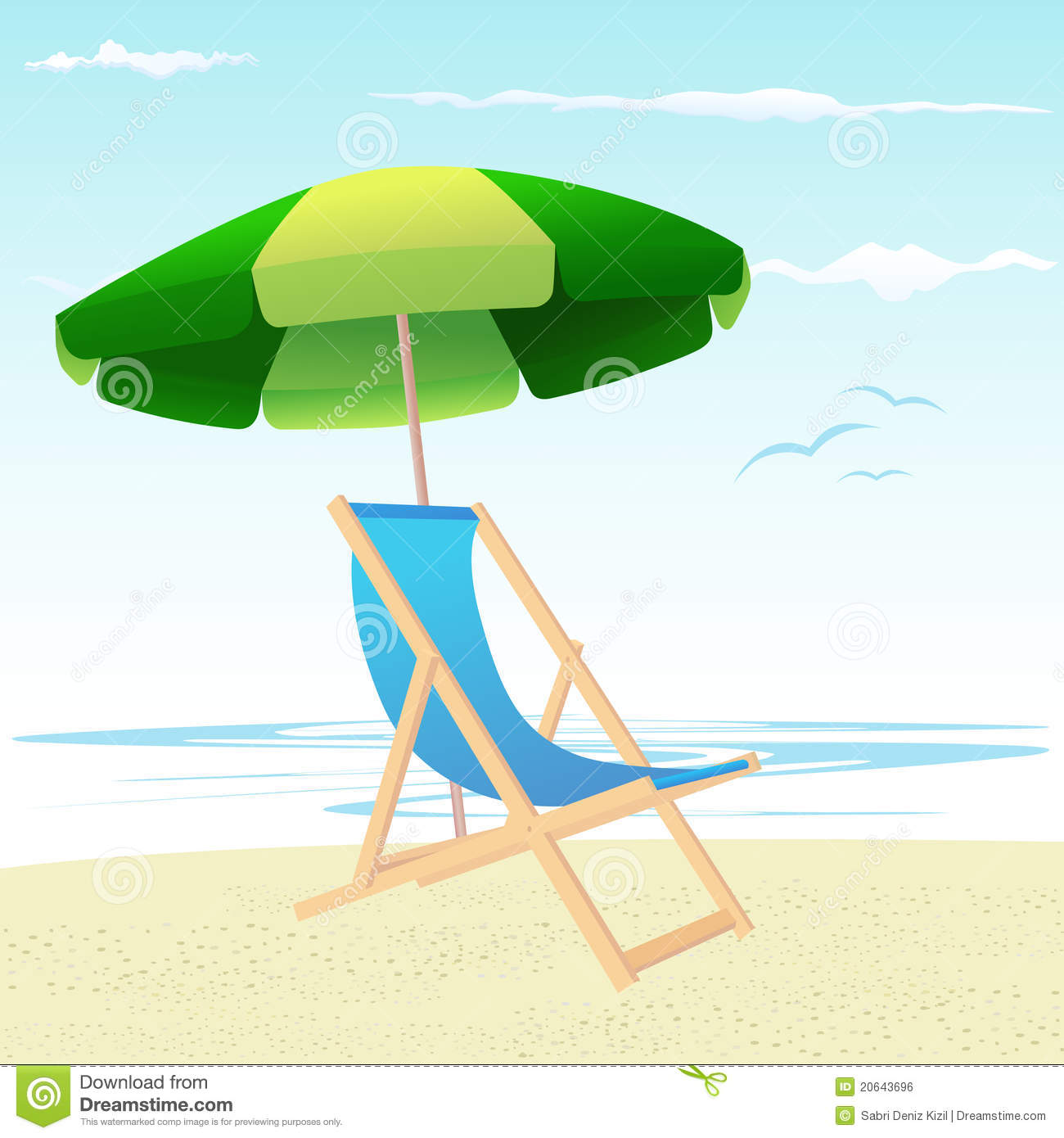 Beach Chairs And Umbrella Royalty Free Stock Image Image