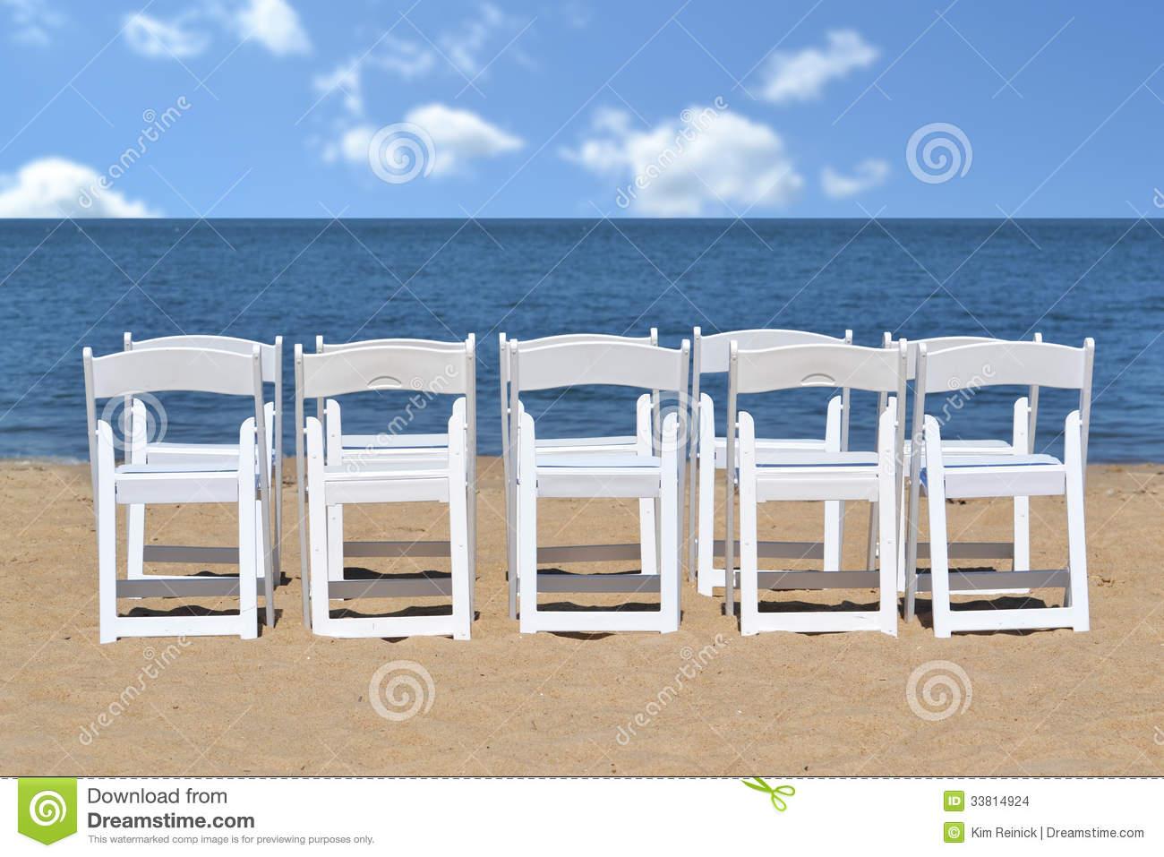 Beach Chairs Stock Images Image 33814924