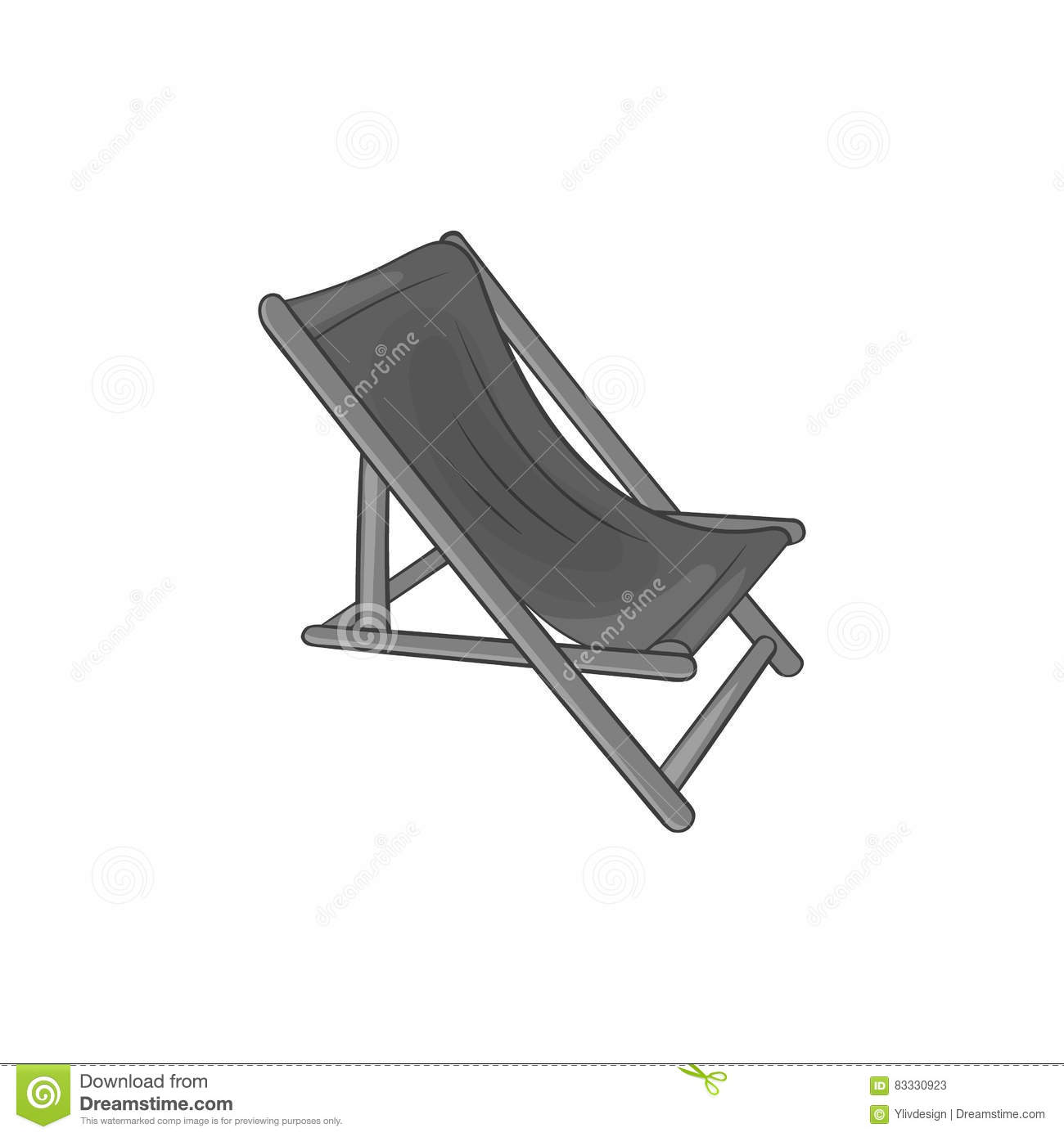 Beatitude cartoons illustrations vector stock images for Beach chaise longue