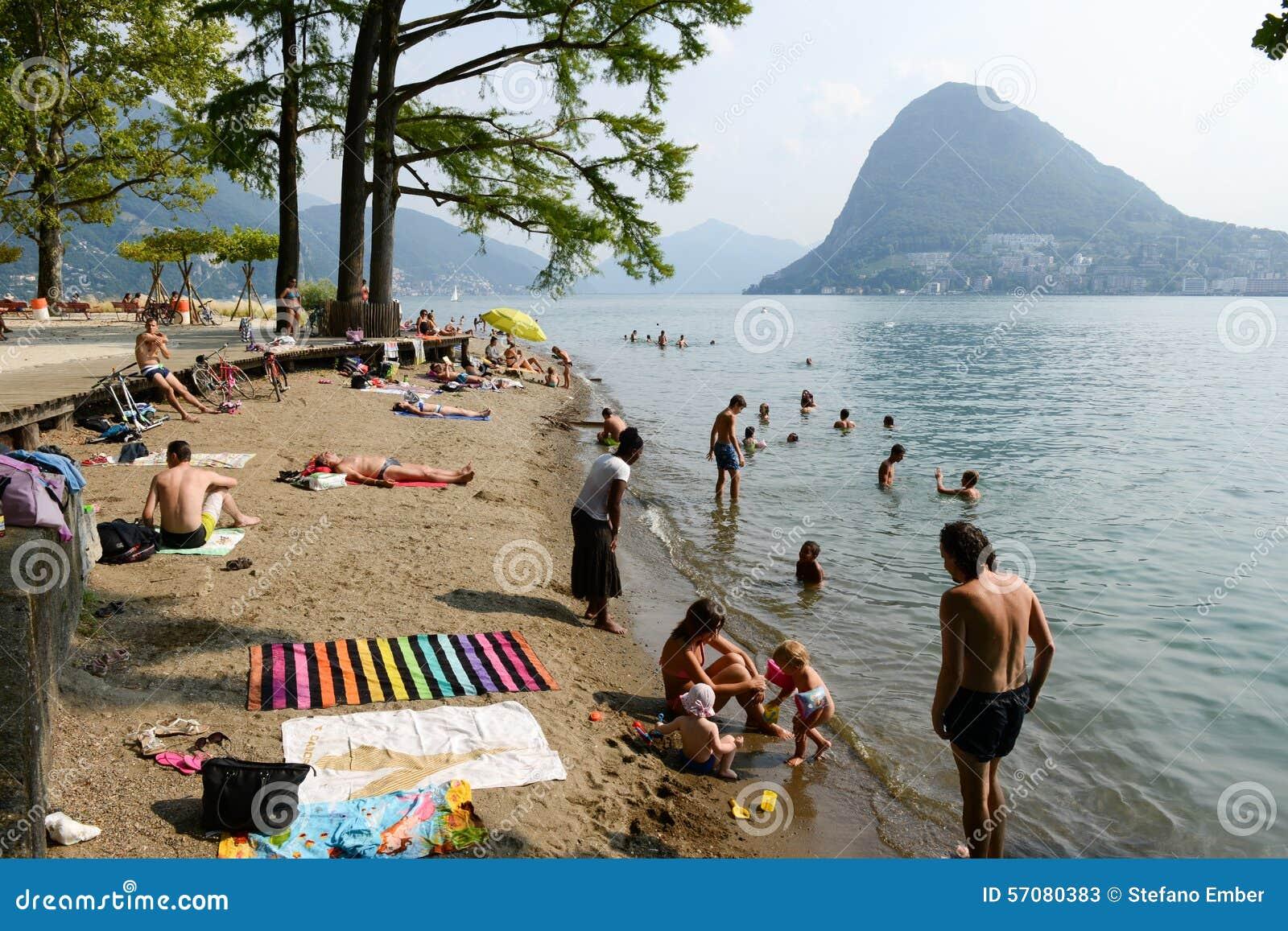 the beach of ciani botanical park at lugano on switzerland Fish Clip Art Sunscreen Clip Art