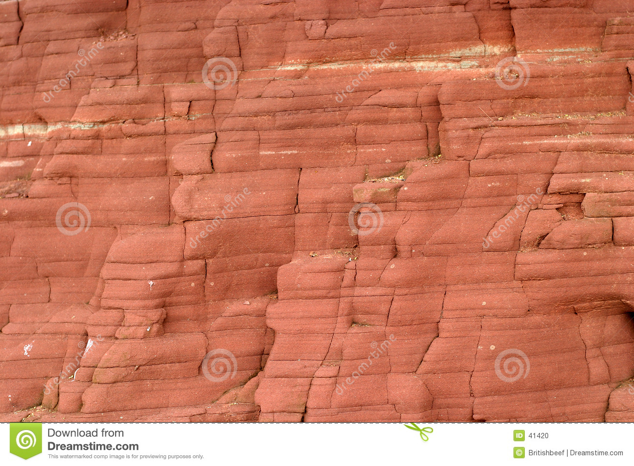Beach cliff face