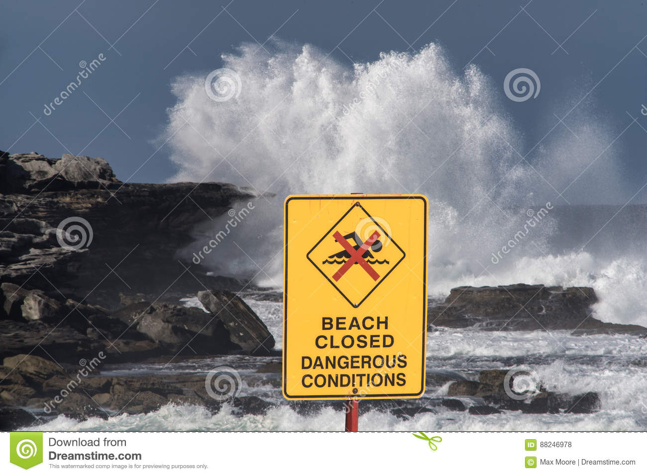 Beach closed stock photo  Image of tropical, danger, nature