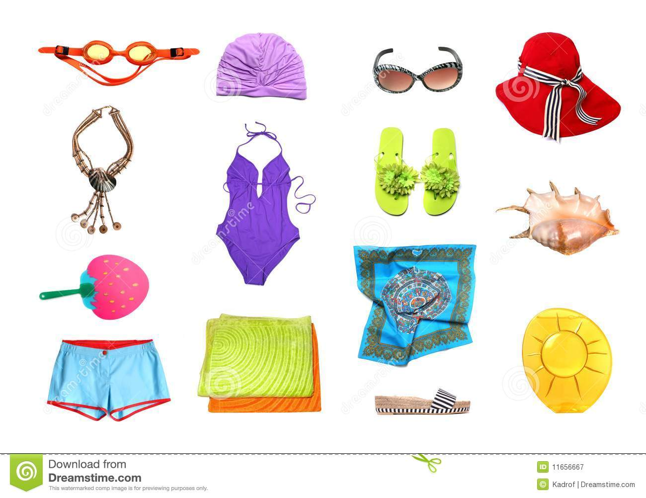 Beach Clothes And Accessories Set Stock Image - Image of ...