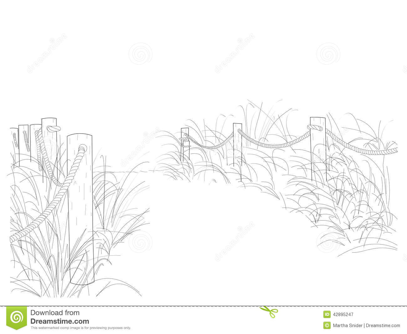 Line Art Beach : Beach collection the path stock illustration image
