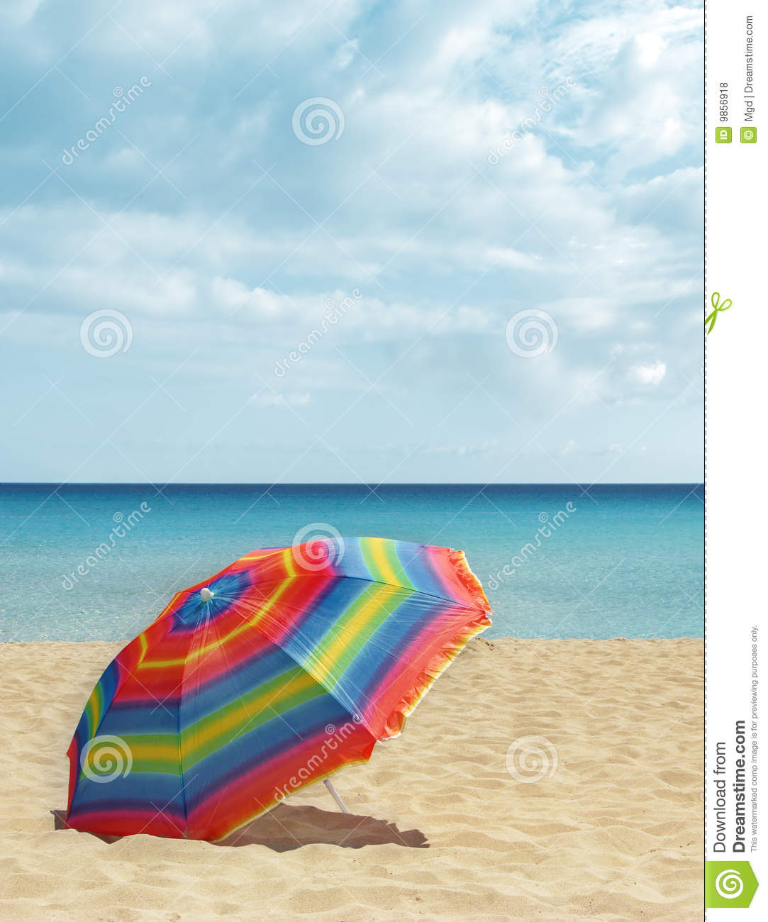 Beach Colorful Parasol Umbrella Royalty Free Stock s Image