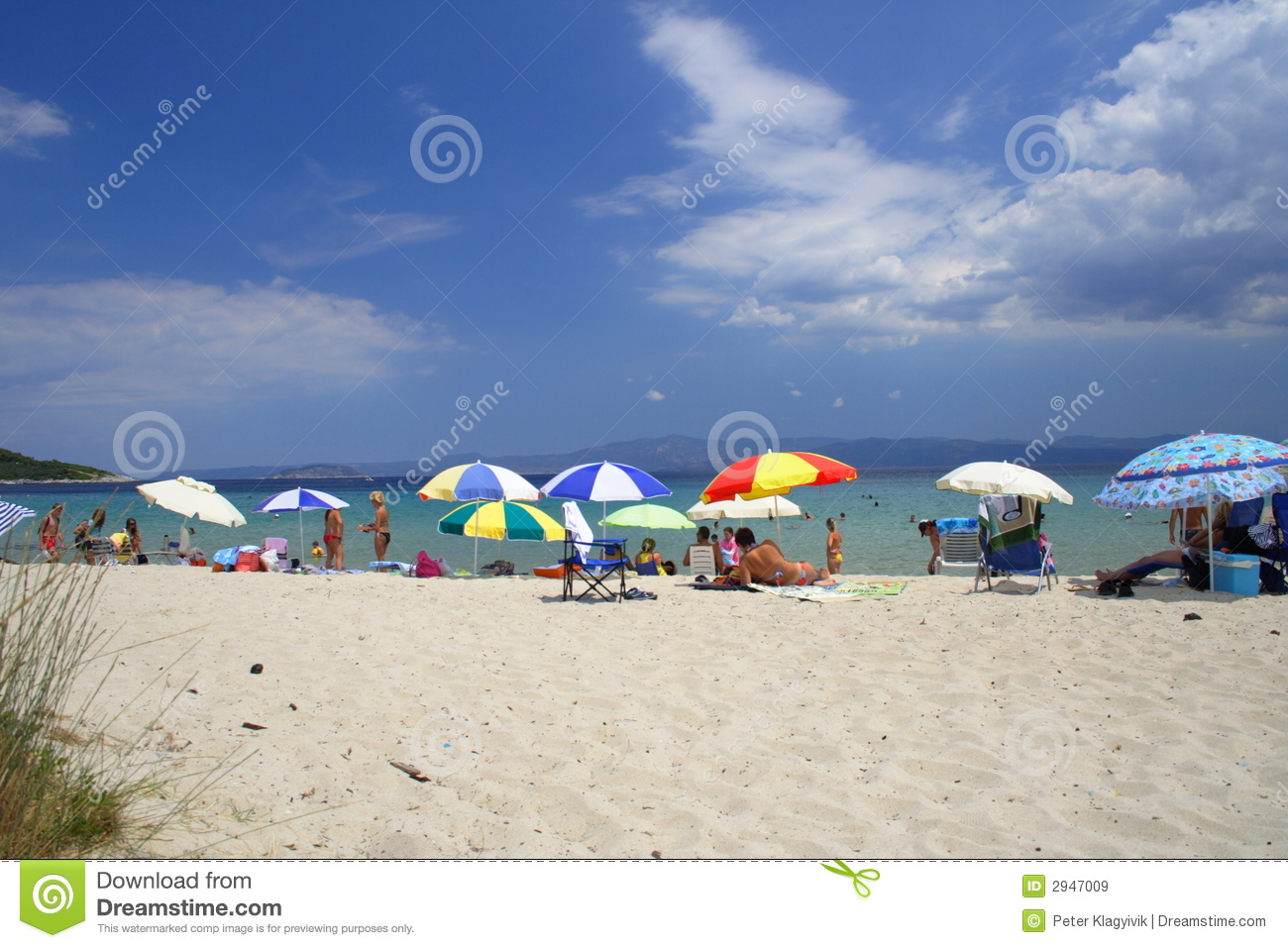 Beach With Colorful Umbrellas Royalty Free Stock Images ... - photo#41