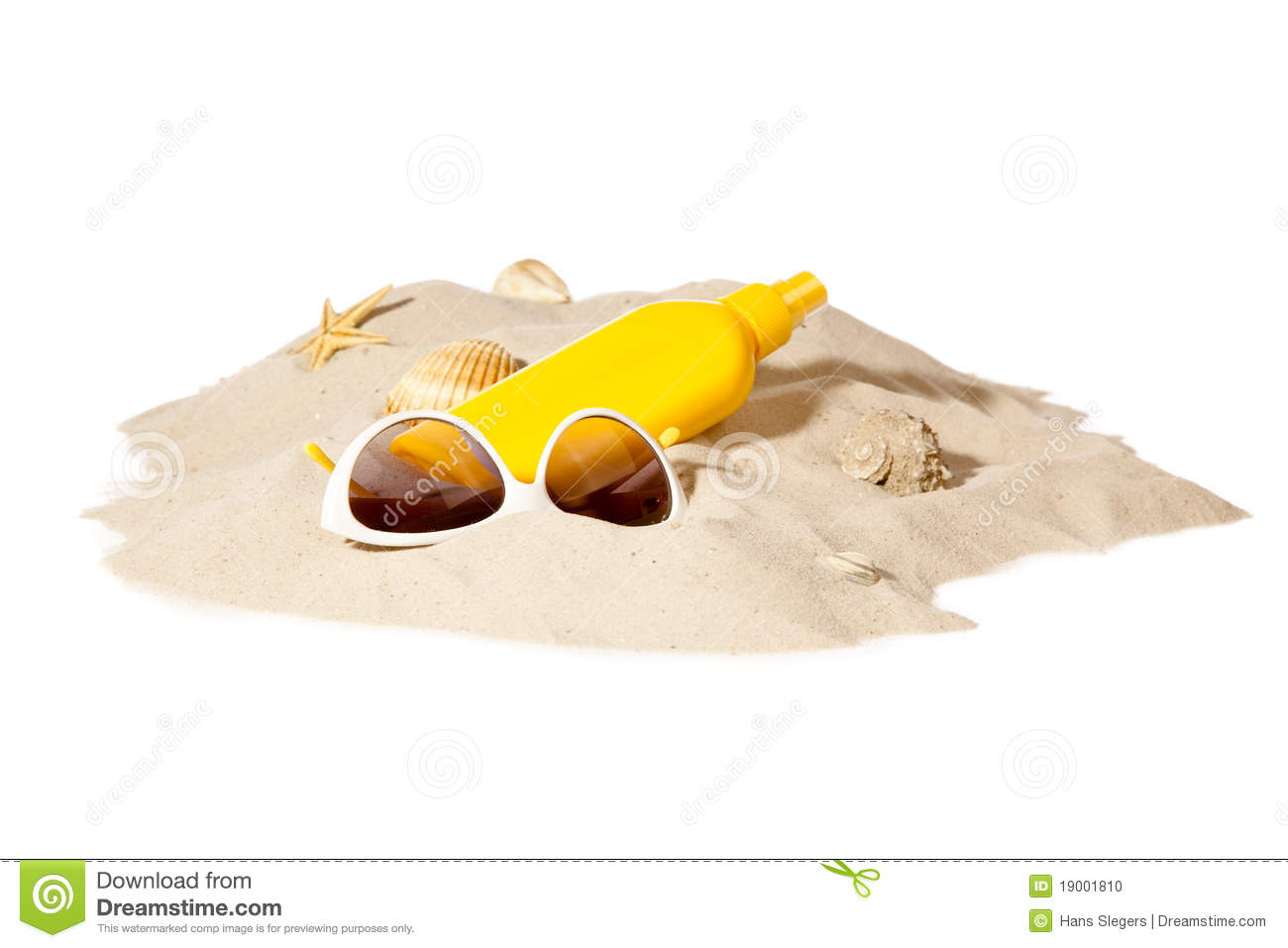 Beach Concept With Pile Of Sand Stock Photo - Image: 19001810