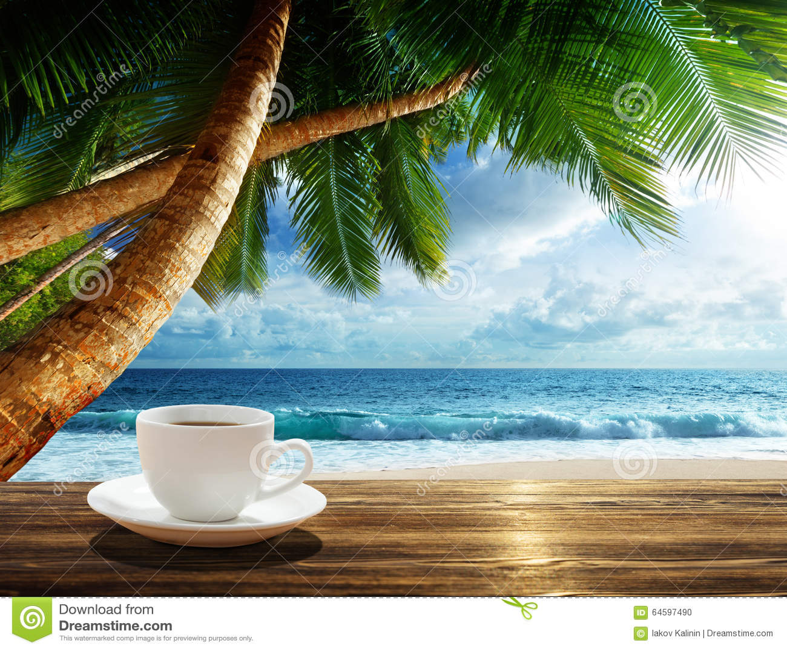 Beach Cup Tropical Island